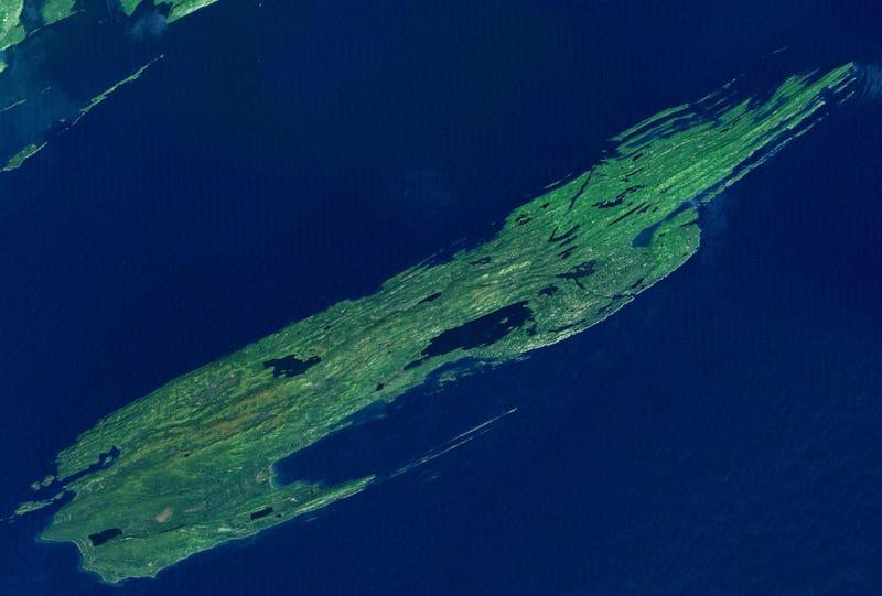 Imagen satelital de la isla Royale. NASA