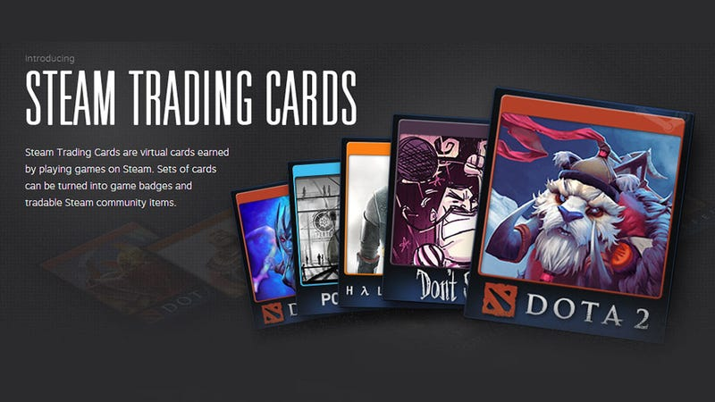 Illustration for article titled Valve Launches Steam Trading Cards, So Much Better Than Achievements