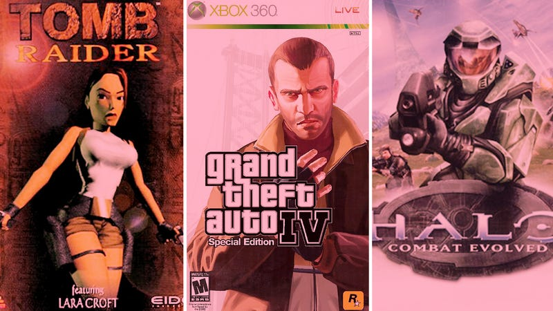 Tomb Raider, Grand Theft Auto IV, and Halo (Graphic: Nicole Antonuccio)