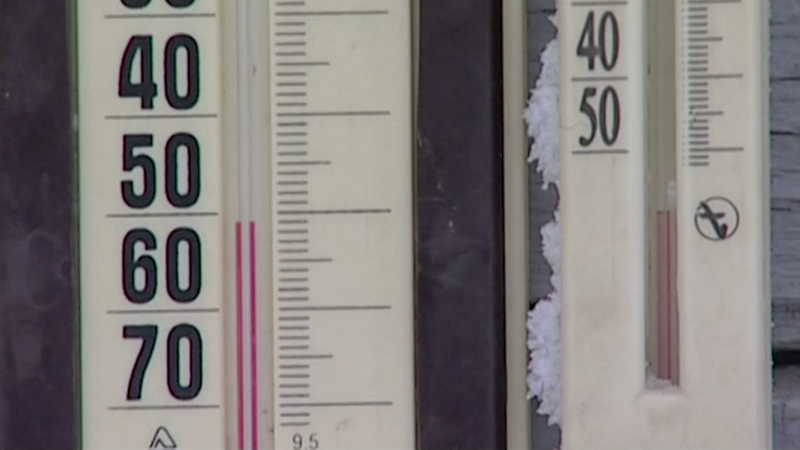 Yeah, those are degrees below freezing. Photo: AP