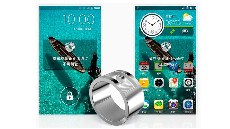 Illustration for article titled Este anillo NFC desbloquea tu móvil y comparte contactos
