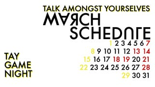 Illustration for article titled TAY Game Night: March Schedule