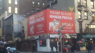Illustration for article titled Gross Billboard Ensures that No One Will Drink Its Gross Vodka
