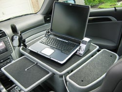 Passenger Desk Setup Redefines Telecommuting