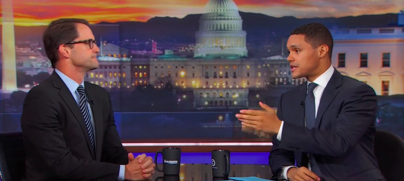 On The Daily Show, Trevor Noah finds a congressman who refuses to be silent on guns—even during a moment of silence