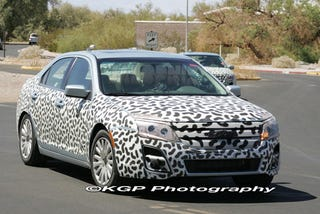 Illustration for article titled 2010 Ford Fusion Spied Uncovered For Desert Testing