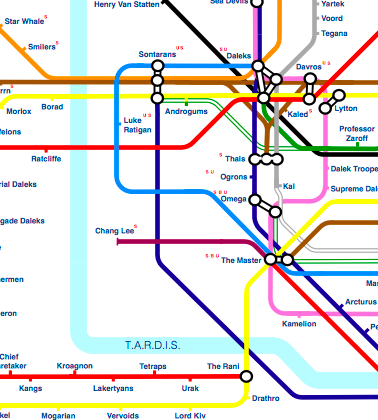 Illustration for article titled Check out this interactive Doctor Who tube map