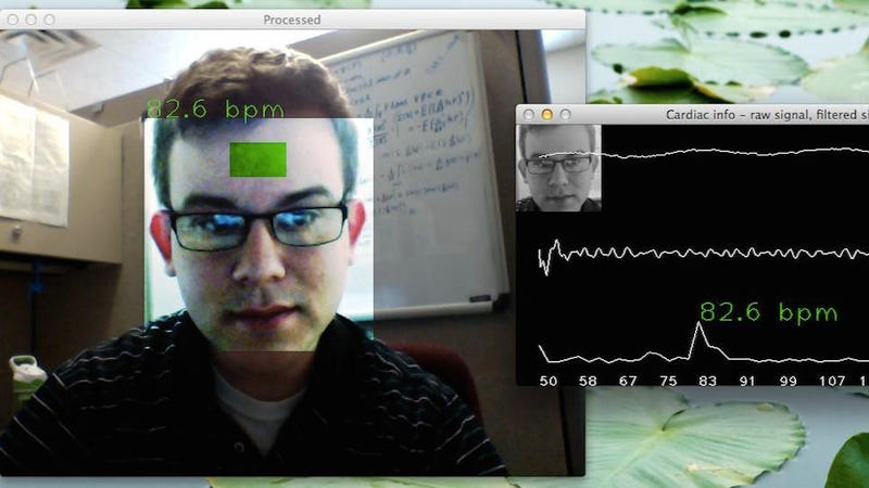 Illustration for article titled The Webcam Pulse Detector Shows Your Life Signs Using Your PC's Camera