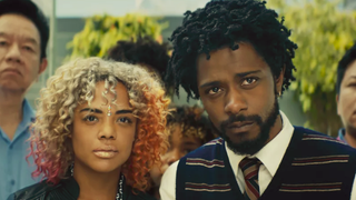 """Illustration for article titled Boots Riley says Sorry To Bother You isn't getting international distribution because it's a """"black"""" movie"""