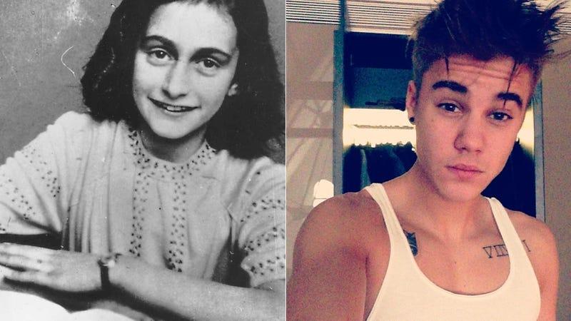 Illustration for article titled Justin Bieber Hopes Anne Frank 'Would Have Been a Belieber'