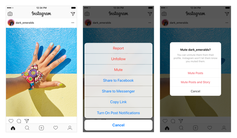 Illustration for article titled Instagram Now Lets You Mute Posts, a Gift to Frenemies Everywhere