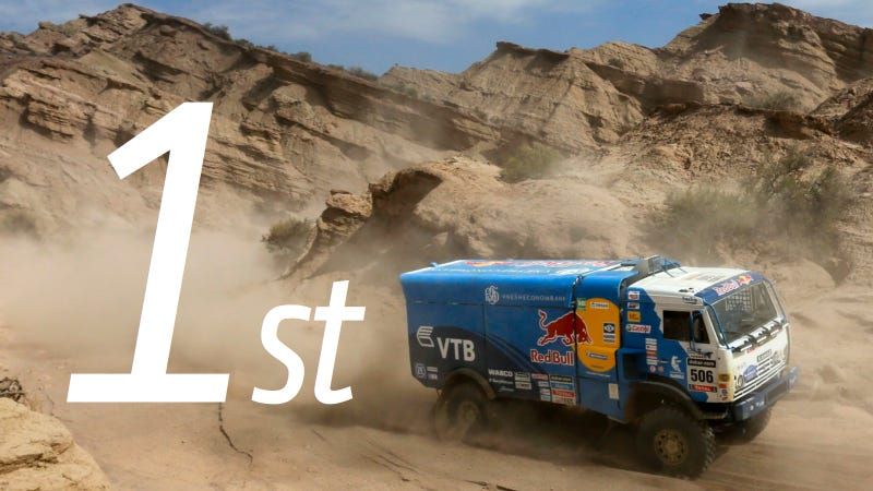 Illustration for article titled Kamaz Asserts Dakar Domination Once Again With 2014 Win