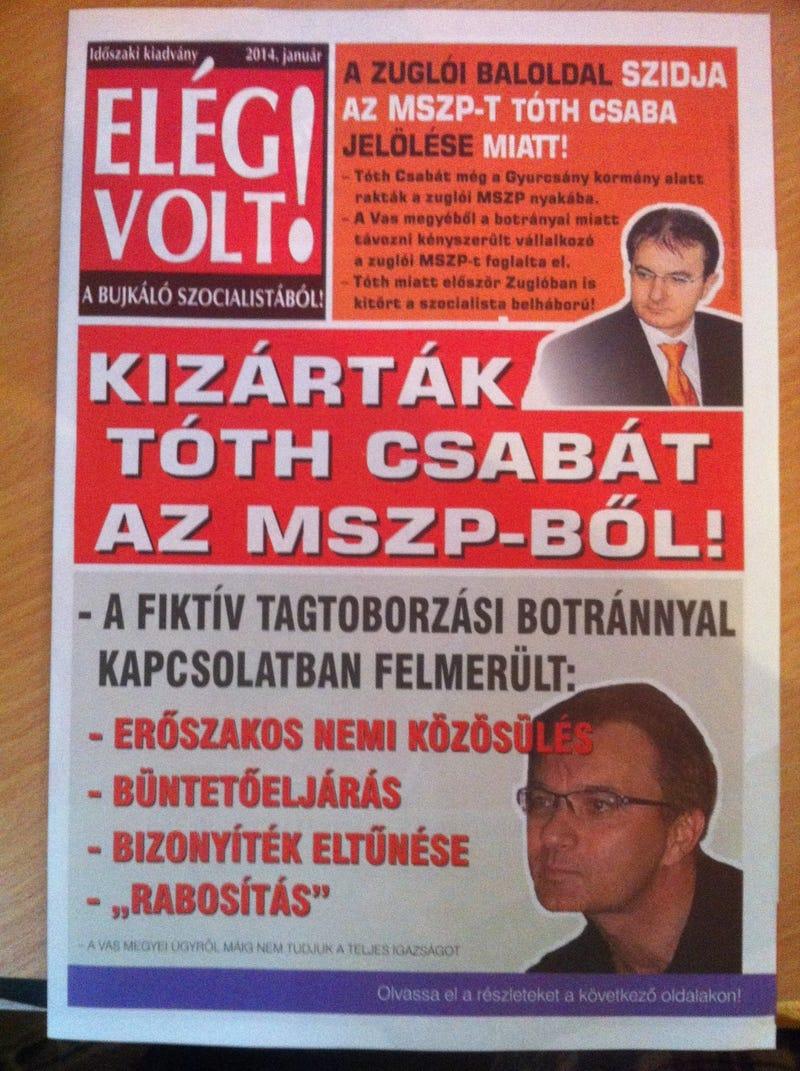 Illustration for article titled Végbélközpontú kampányújsággal támad Zuglóban a Fidesz
