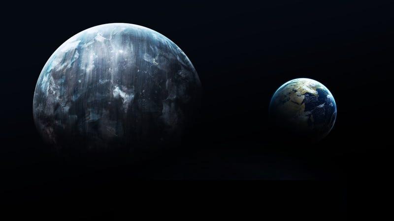 Planeta X y la Tierra / Vadim Sadovski (Shutterstock)