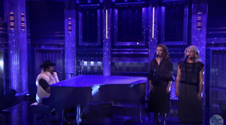 D'Angelo and the band Princess onThe Tonight Show Starring Jimmy FallonYouTube screenshot
