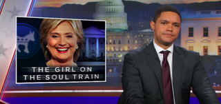 Trevor Noah discussing Hillary Clinton on The Daily Show on Nov. 2, 2016Video Screenshot