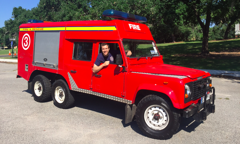 Illustration for article titled I Drove A Six-Wheeled Land Rover Fire Truck And For A Minute I Was Cool