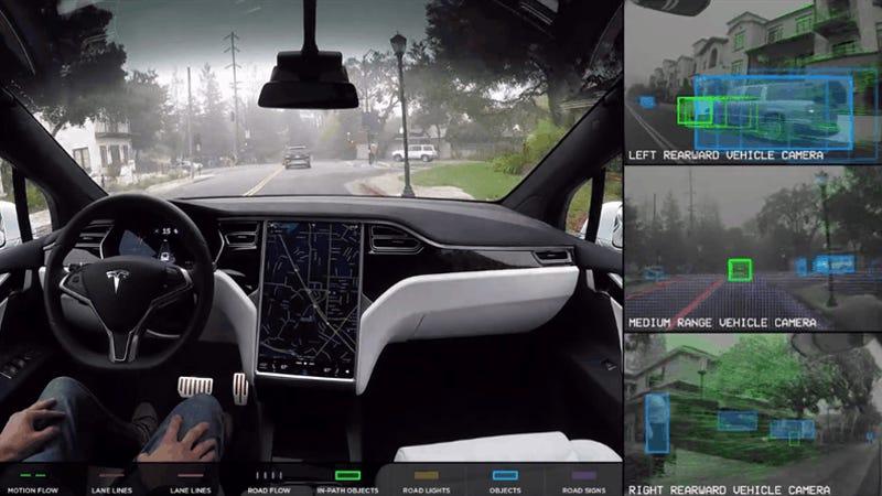 Así es cómo ven el mundo los coches autónomos de Tesla