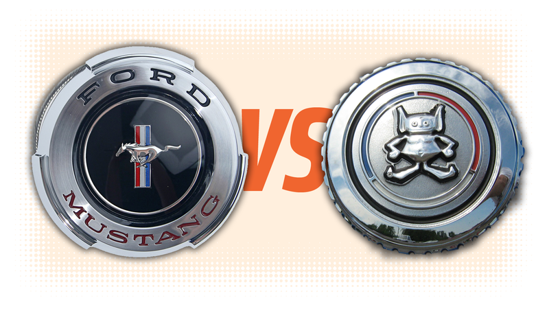 Illustration for article titled Gas Cap Challenge: Ford Mustang Vs. AMC Gremlin