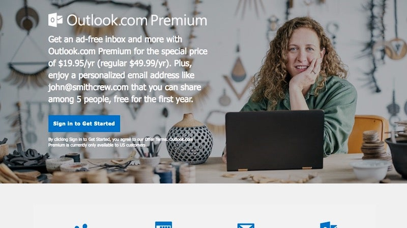 Microsoft's Outlook.com Premium email service sheds the 'preview' tag