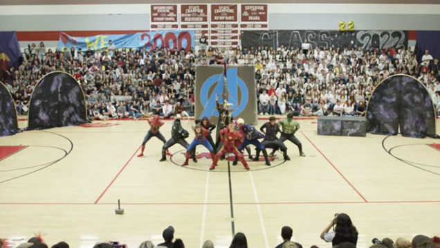 Marvel's Avengers live on in this outstanding high school dance routine