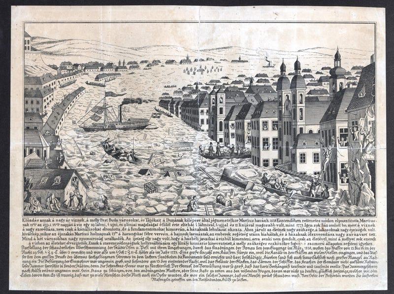 Illustration for article titled Már 1838-ban is terveztek mobilgátat a fővárosba! Leszavazták
