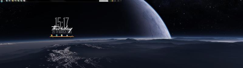 Illustration for article titled The Lunar Outpost Dual-Monitor Desktop