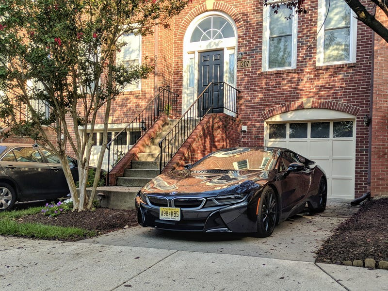 Illustration for article titled One of my neighbors might've gotten a BMW i8 Roadster