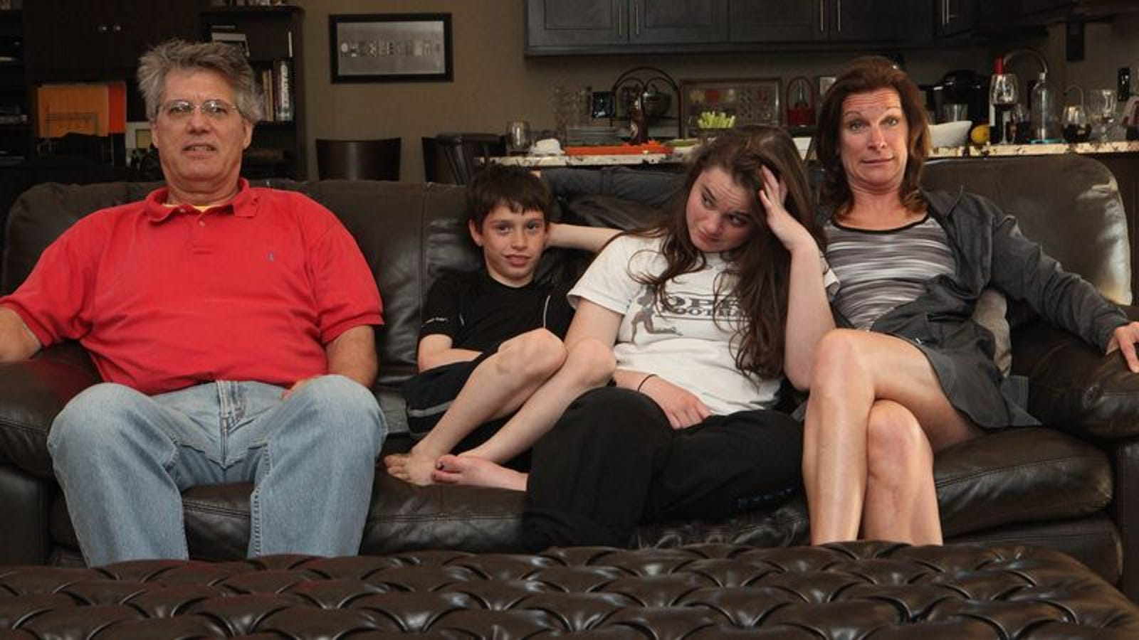 Family Watching Movie White-Knuckles It Through Unexpected
