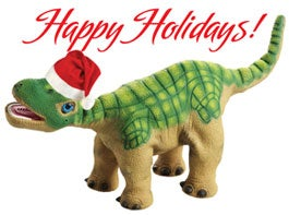 Illustration for article titled Pleo Holiday Behavior Gives You an Xmas Dino