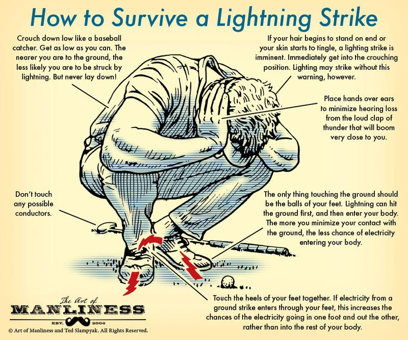 Illustration for article titled An Illustrated Guide To Surviving A Lightning Strike