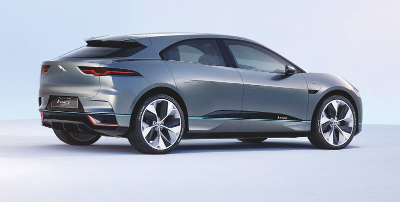 Illustration for article titled The Jaguar I-Pace Concept Is The Sexiest Electric SUV Anyone's Made Yet