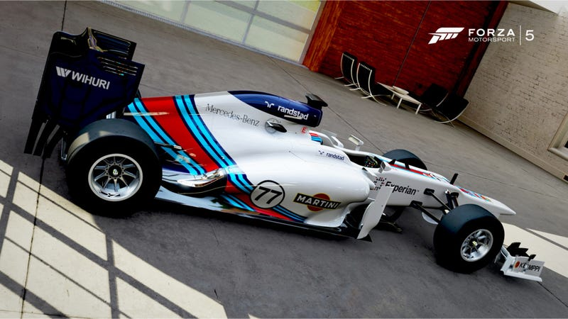 Illustration for article titled Please Let The New Martini F1 Livery Look Like This Forza 5 Rendering