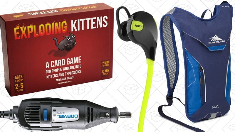 Illustration for article titled Saturday's Best Deals: Exploding Kittens, High Sierra, Dremel, and More