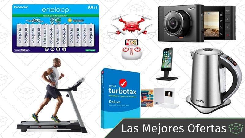 Illustration for article titled Las mejores ofertas de este jueves: Pilas Eneloop, TurboTax, cámaras Anker para el coche y más