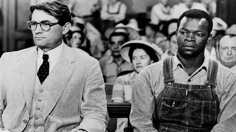 Gregory Peck and Brock Peters in the 1962 film adaptation