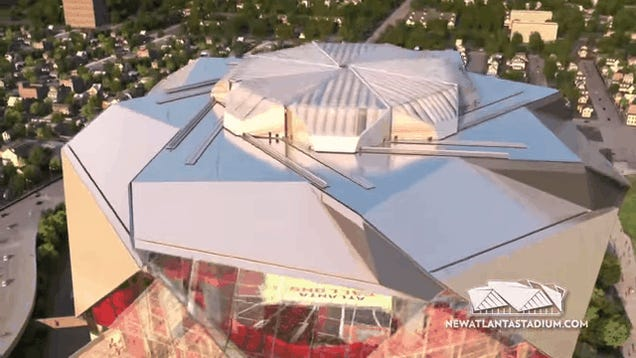 A Closer Look At The Retractable Roof Of Atlanta S Bonkers