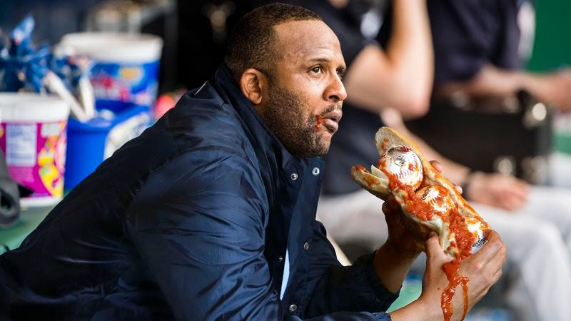 Illustration for article titled CC Sabathia Chowing Down On Homemade Marinara Baseball Sub