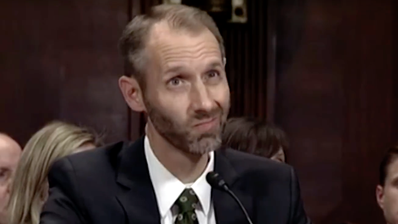 U.S. District Court nominee Matthew Petersen (CNN via YouTube screenshot)