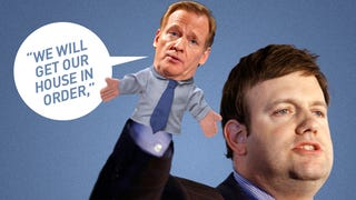 Illustration for article titled The Political-Messaging Huckster Behind Roger Goodell's Awful Presser