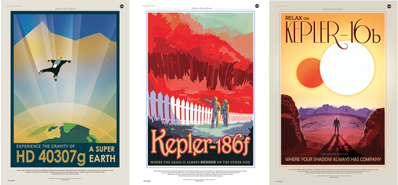 Illustration for article titled NASA Made These Gorgeous Travel Posters For Actual Exoplanets