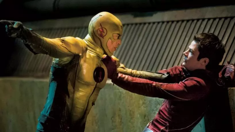 The Flash vs. Reverse Flash, from the CW TV show.
