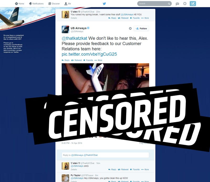 Illustration for article titled US Airways Just Tweeted A Pic Of A Woman With A Plane In Her Vagina