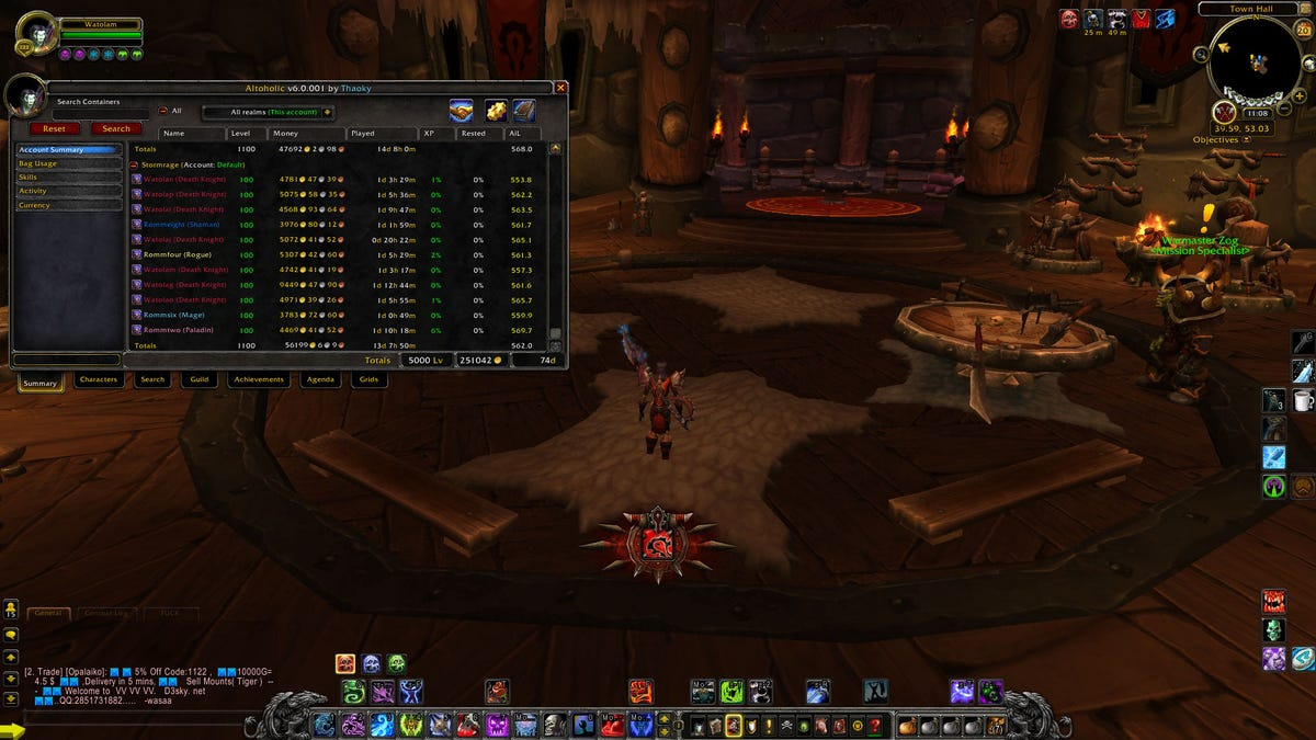 Insane WoW Player Reaches Max Level With 100 Characters