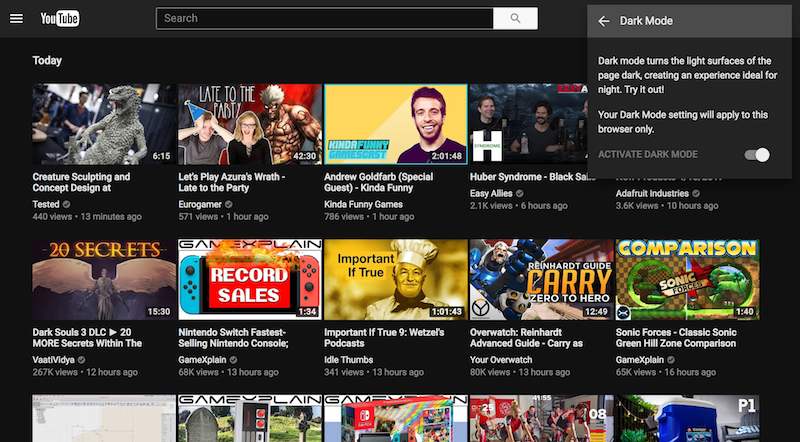 YouTube Has A New Dark Mode: Here's How To Get It