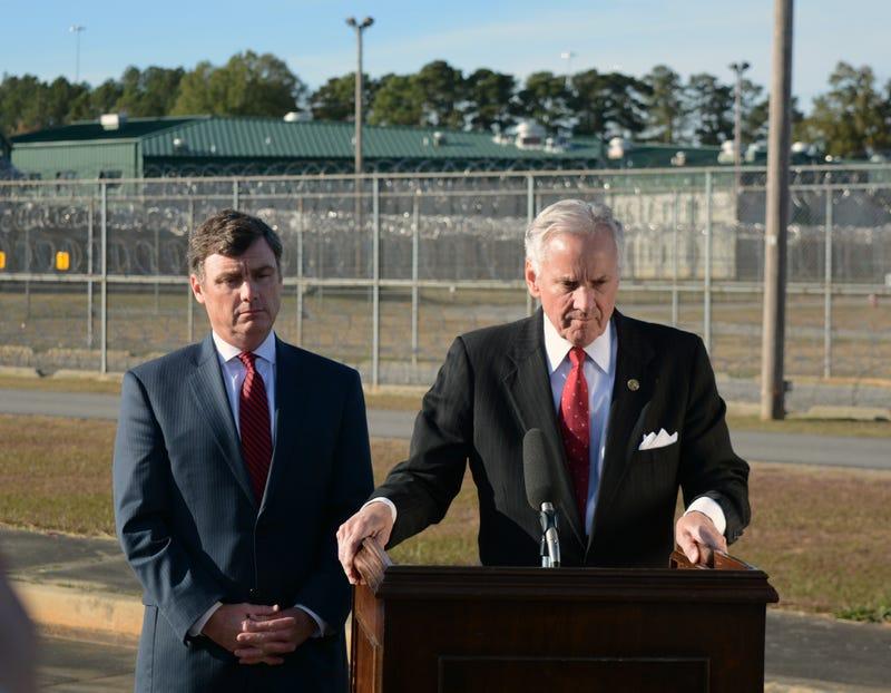 South Carolina Corrections Director Bryan Stirling, left, and Gov. Henry McMaster in November 2017  (AP Photo)