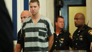 Former University of Cincinnati Police Officer Ray Tensing enters court to be arraigned on murder charges July 30, 2014, in Cincinnati.Mark Lyons/Getty Images