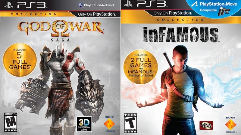 Illustration for article titled God of War, Infamous Collections Coming To PS3 August 28 [UPDATE]