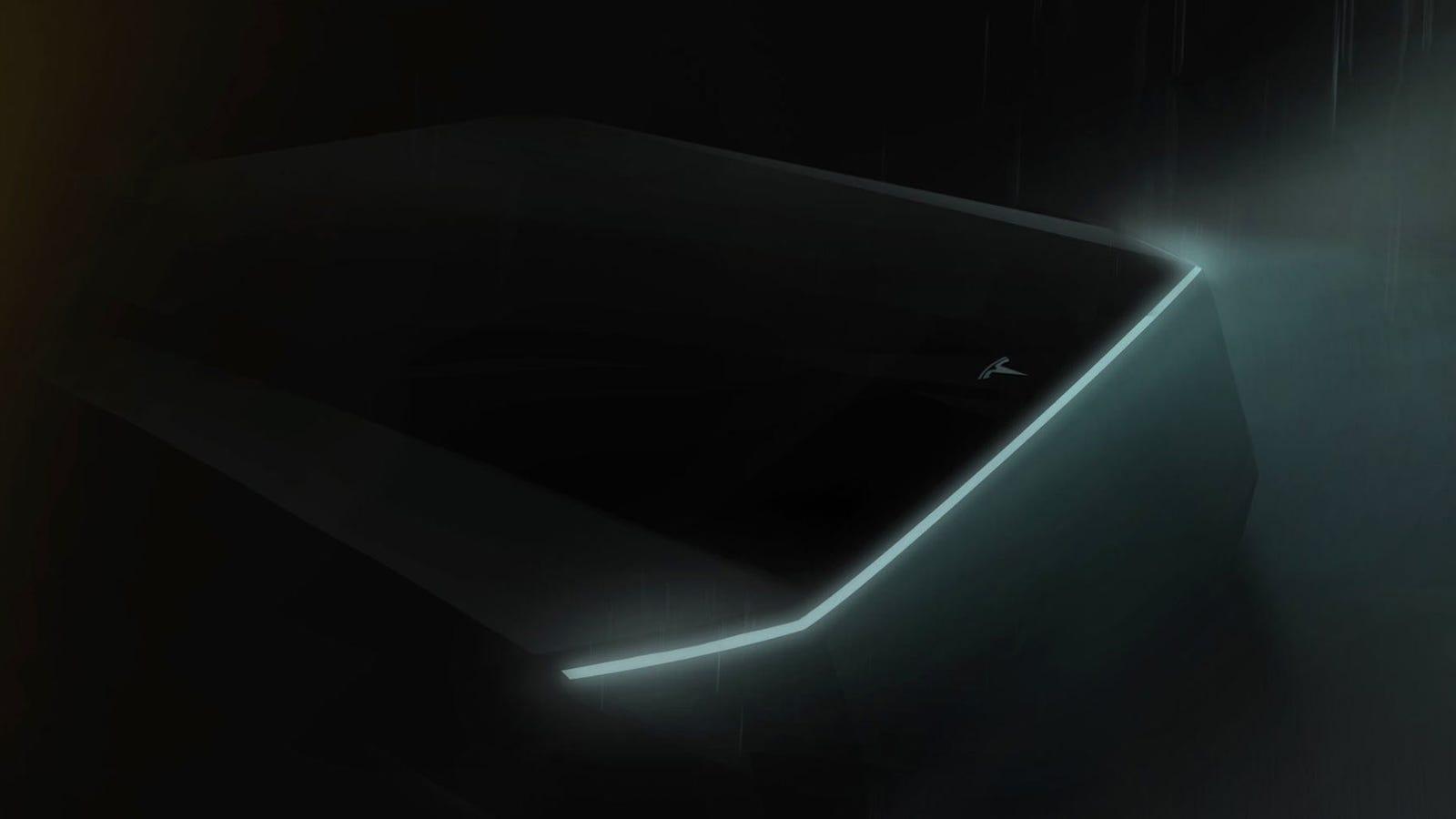 Elon Musk Snuck A Teaser Of The Tesla Truck Into The Model Y - jp npa roblox