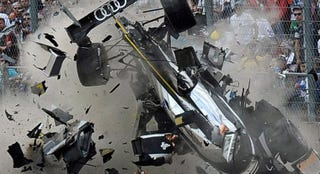 Illustration for article titled Le Mans Driver Walks Away from Terrifying 200 M.P.H. Crash
